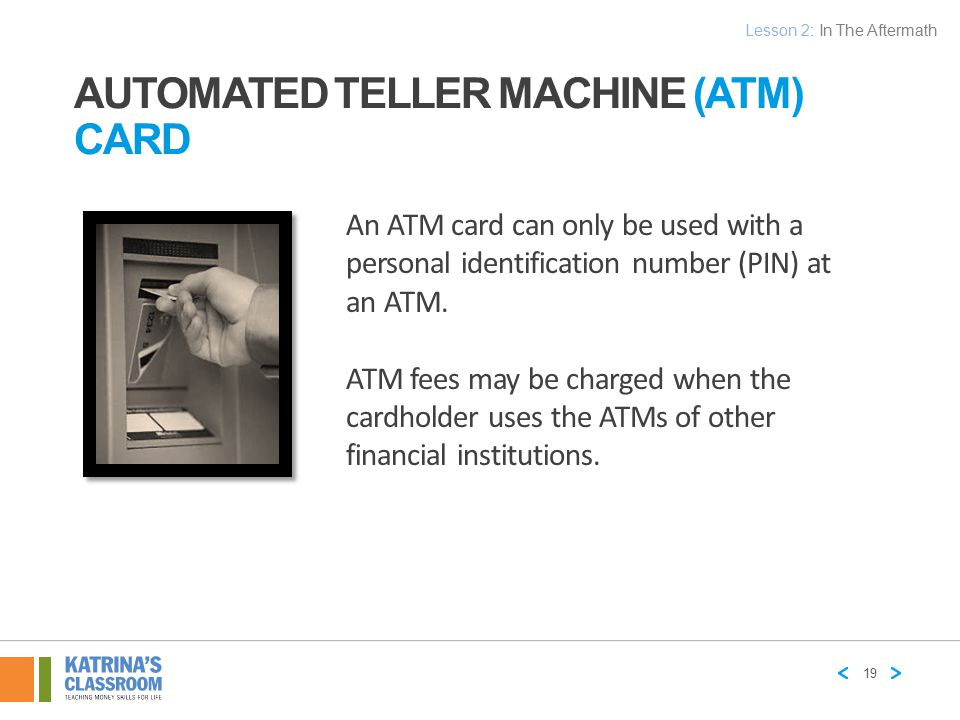 Automated Teller Machine (ATM) Card