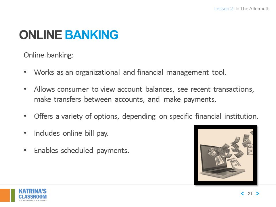 Online Banking Online banking: