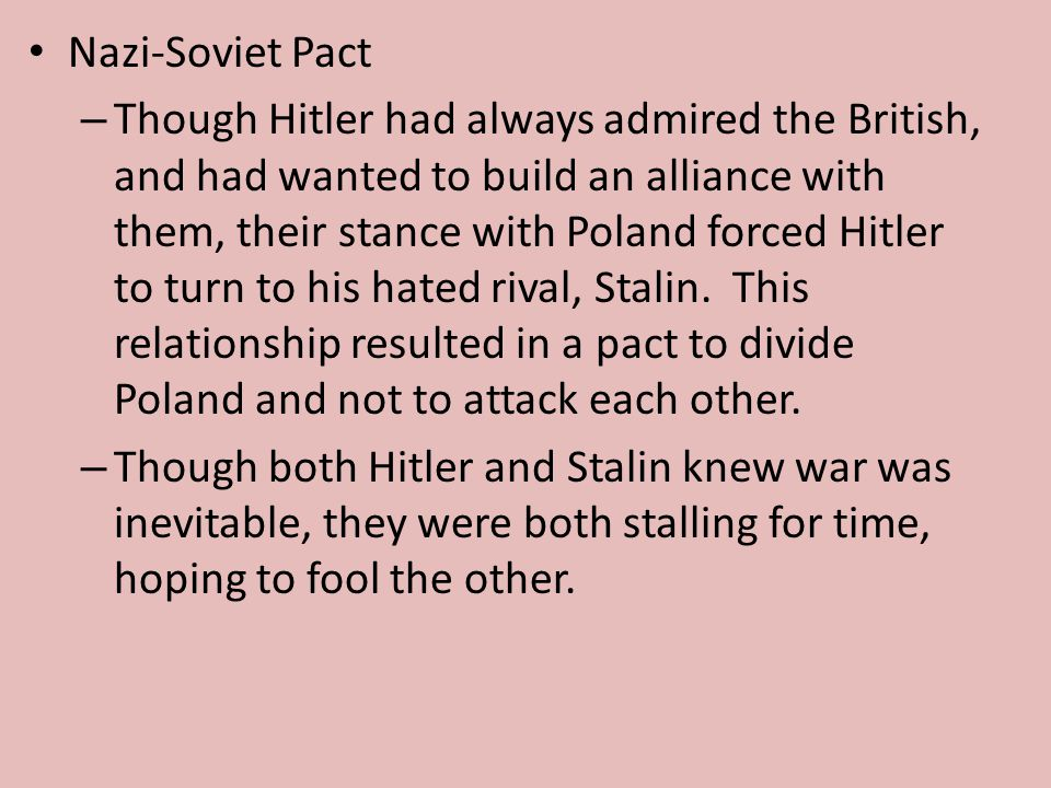 world war 2 hitler and stalin relationship