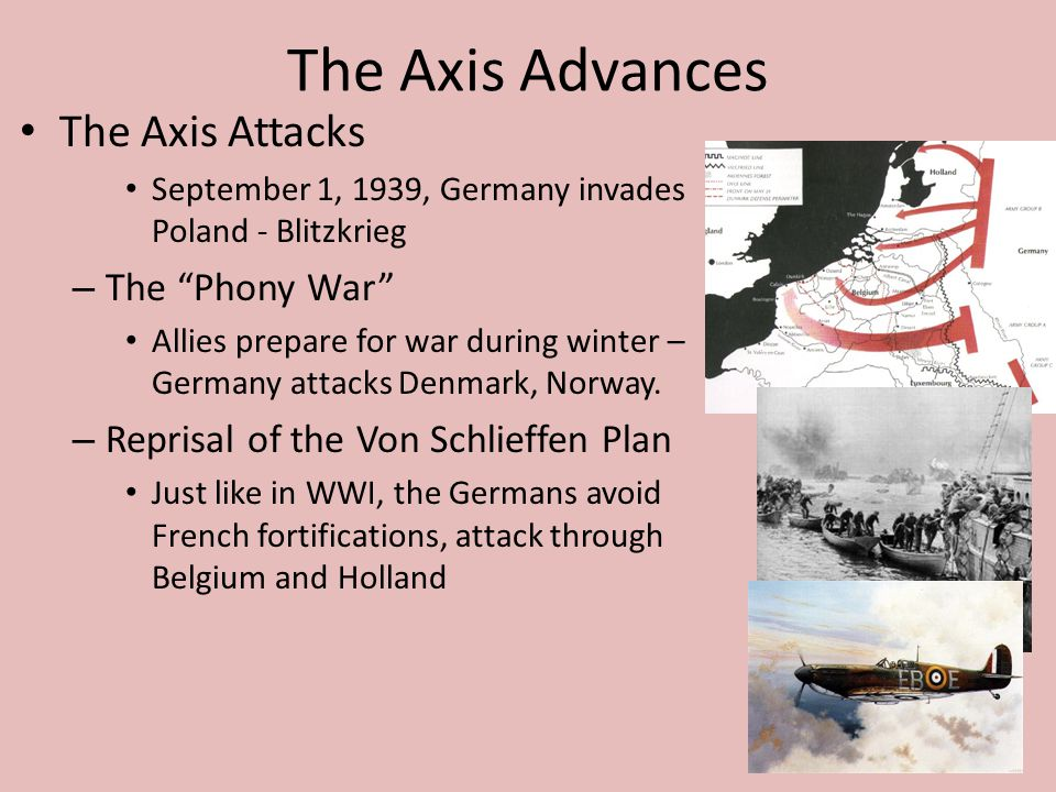 The Axis Advances The Axis Attacks The Phony War