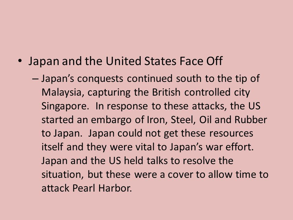Japan and the United States Face Off