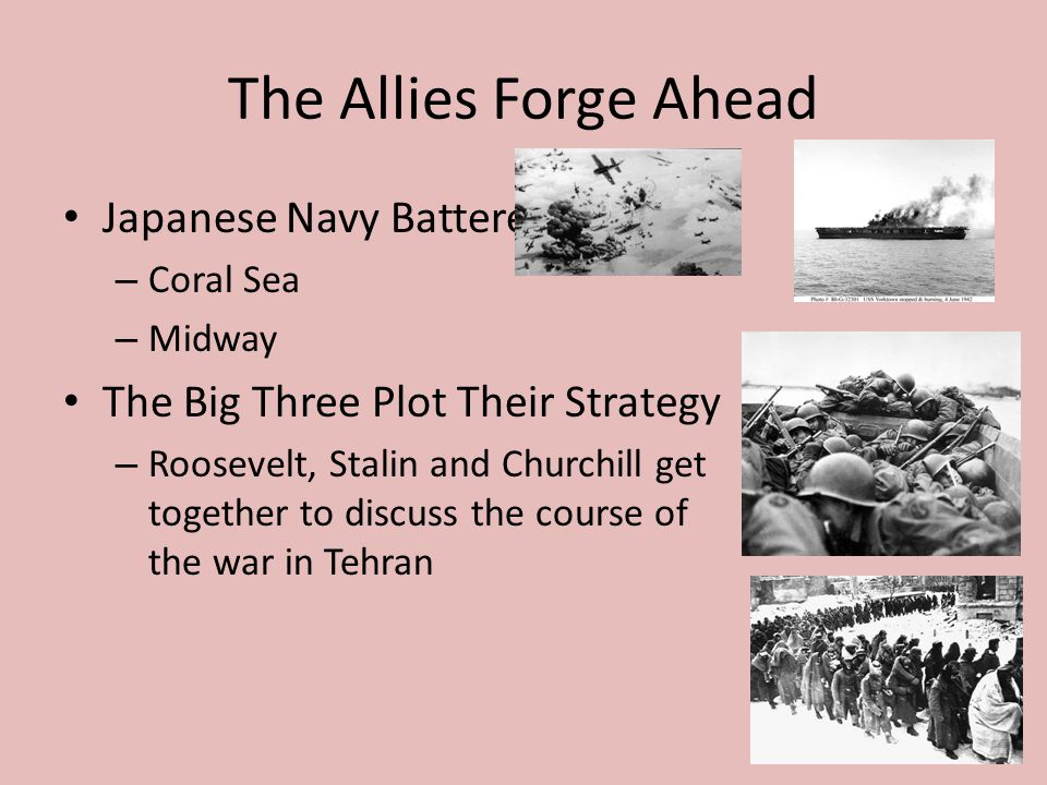 The Allies Forge Ahead Japanese Navy Battered