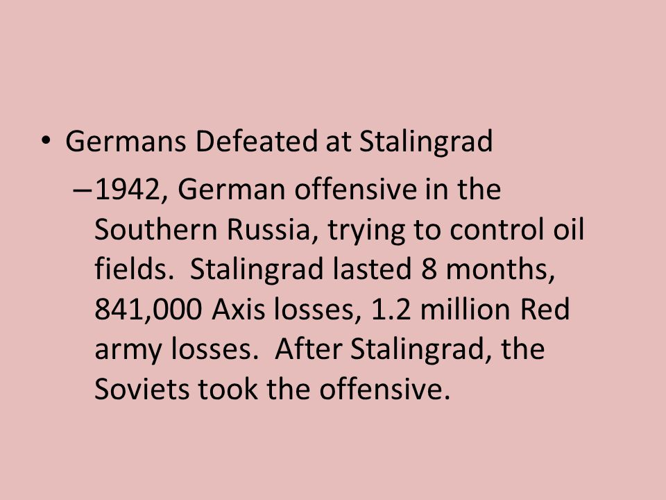 Germans Defeated at Stalingrad