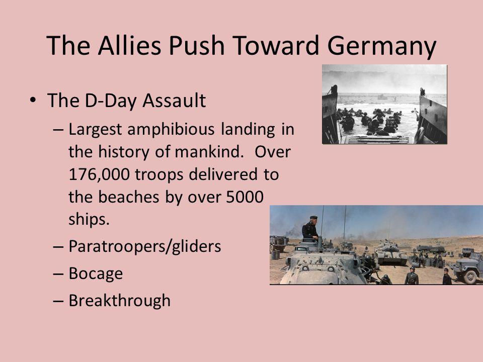 The Allies Push Toward Germany