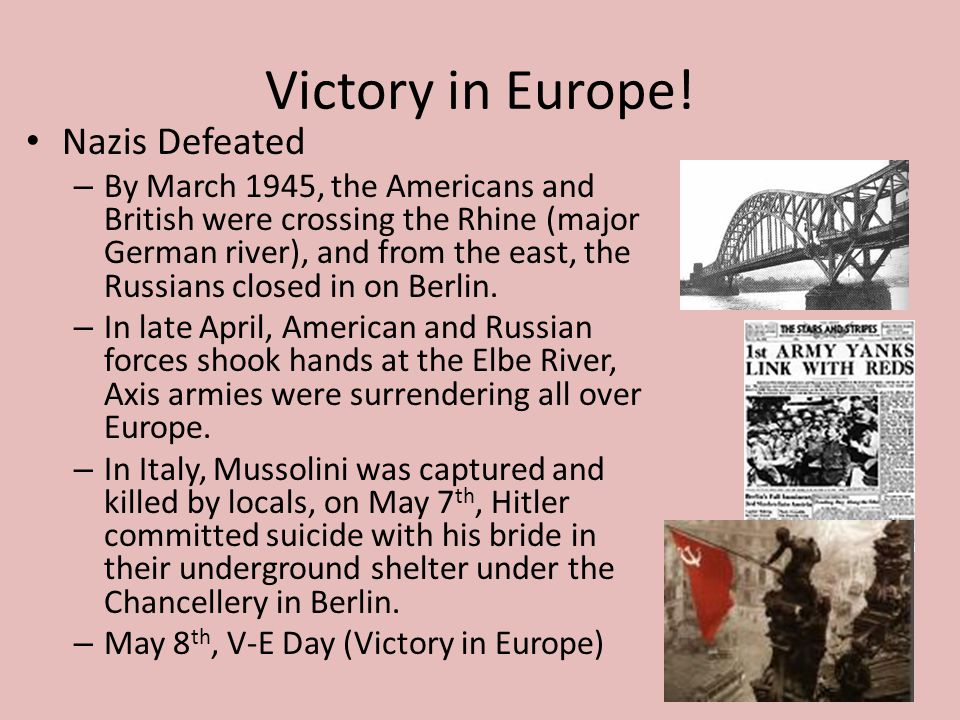 Victory in Europe! Nazis Defeated