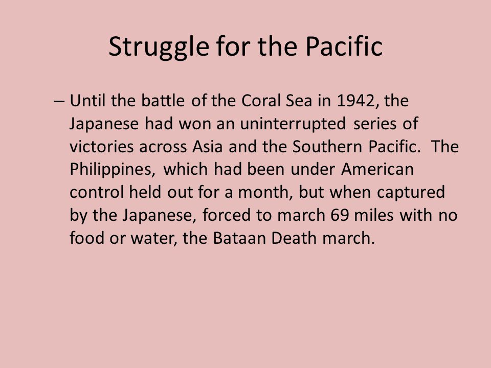 Struggle for the Pacific