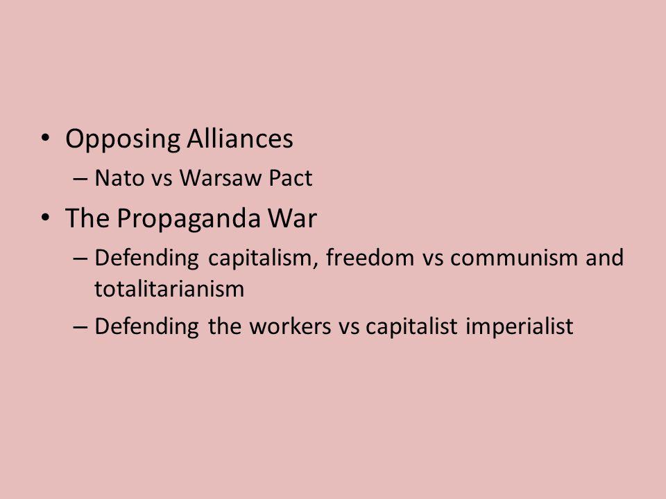 Opposing Alliances The Propaganda War Nato vs Warsaw Pact