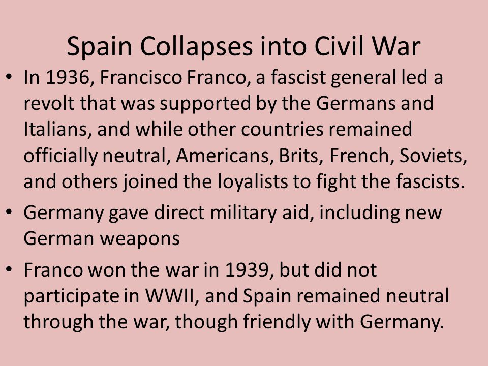 Spain Collapses into Civil War