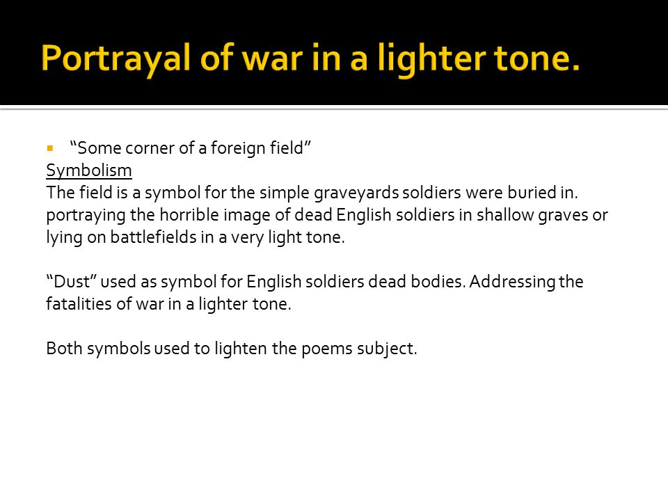Portrayal of war in a lighter tone.