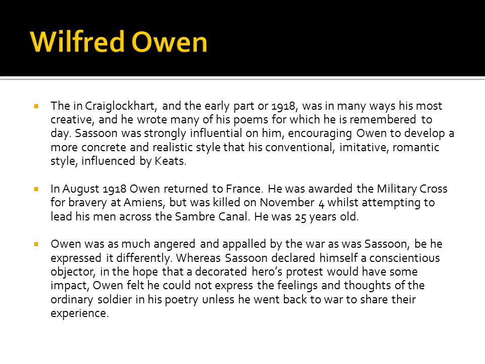 Wilfred Owen