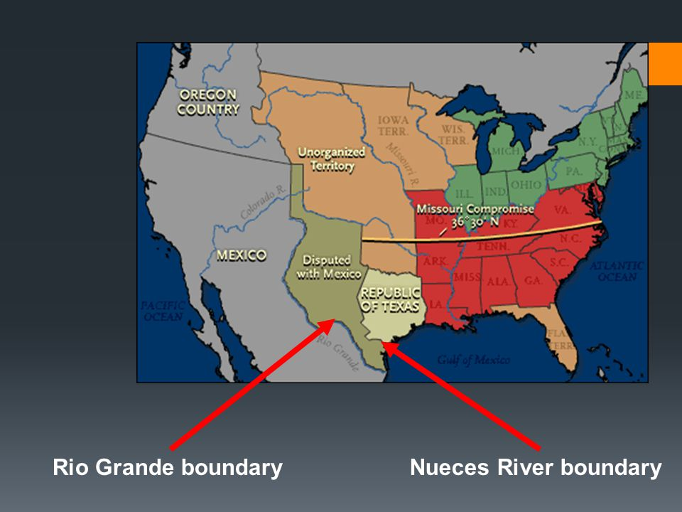 Rio Grande boundary Nueces River boundary