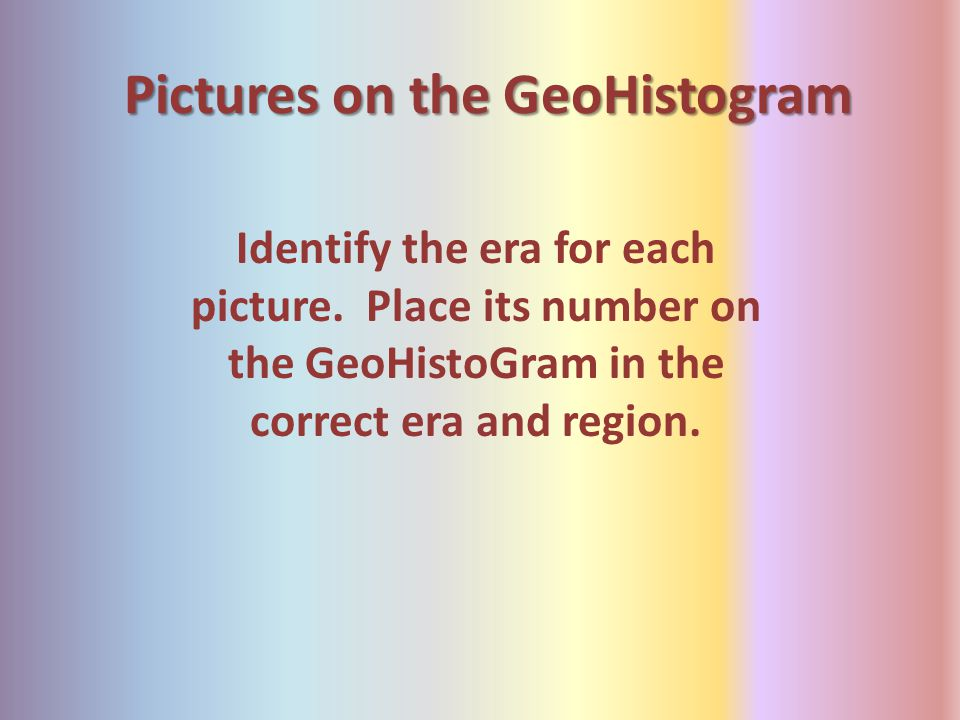 Pictures on the GeoHistogram