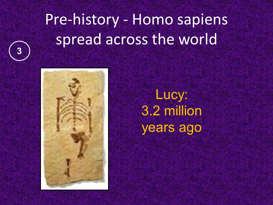 Pre-history - Homo sapiens spread across the world