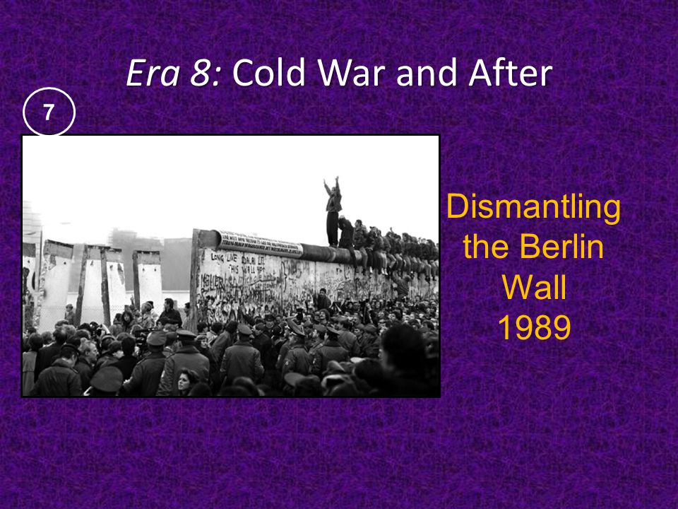 Dismantling the Berlin Wall