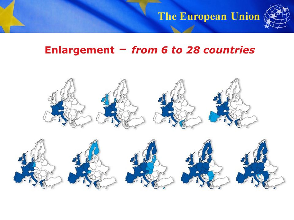 Enlargement – from 6 to 28 countries