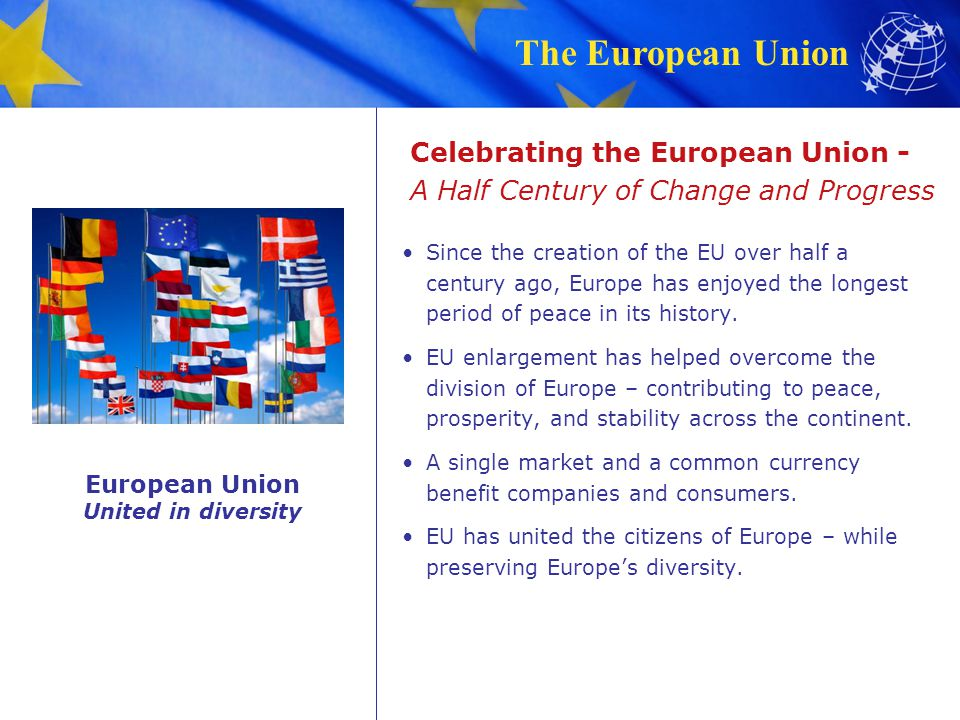 Celebrating the European Union - A Half Century of Change and Progress