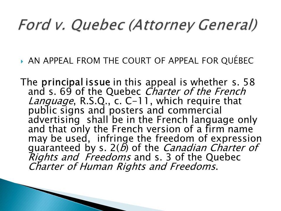 Ford v. Quebec (Attorney General)