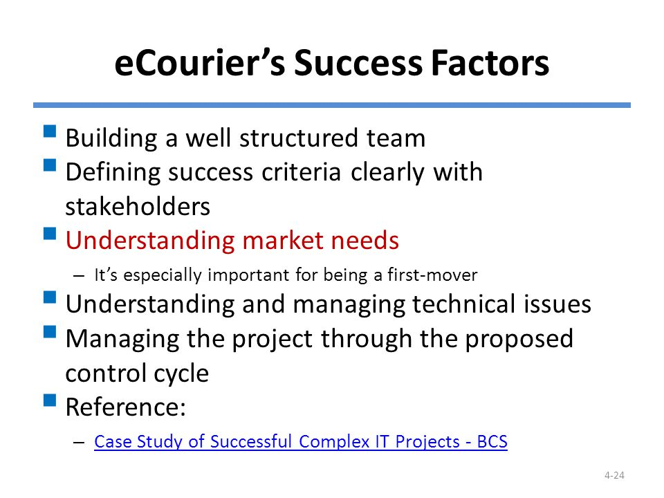 What Makes Projects Succeed