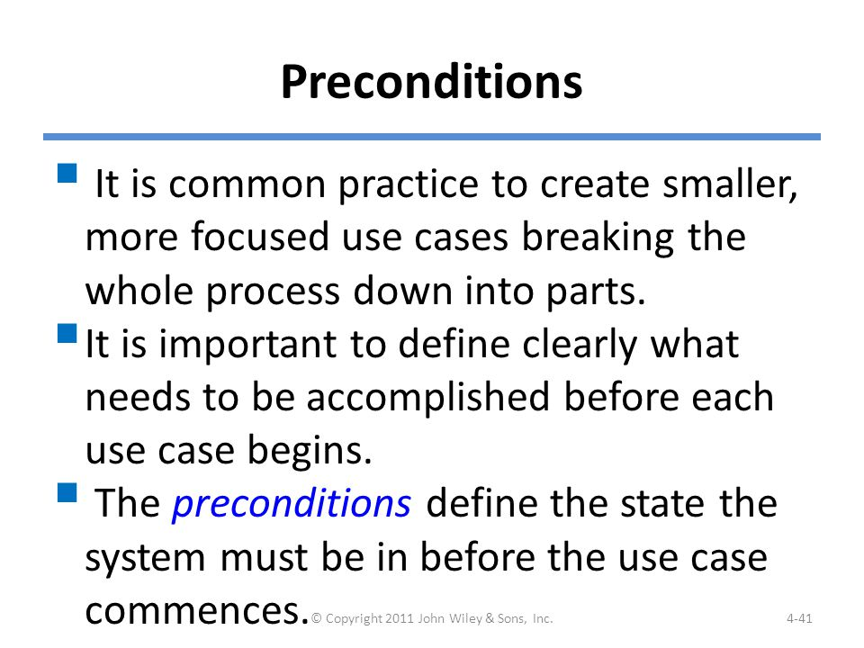 Example: Preconditions