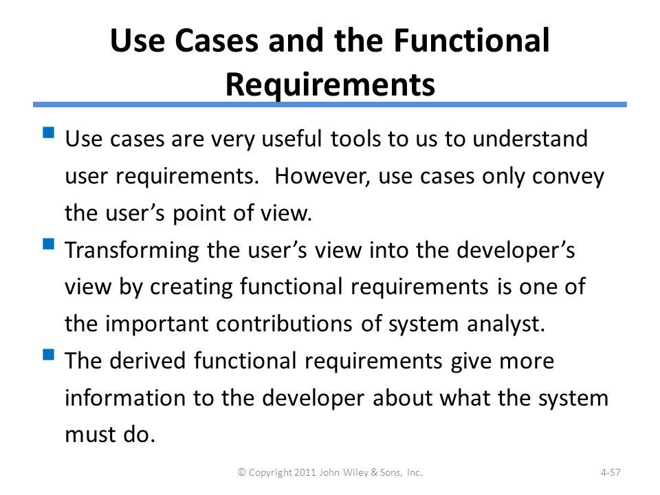 Example: Functional Requirements