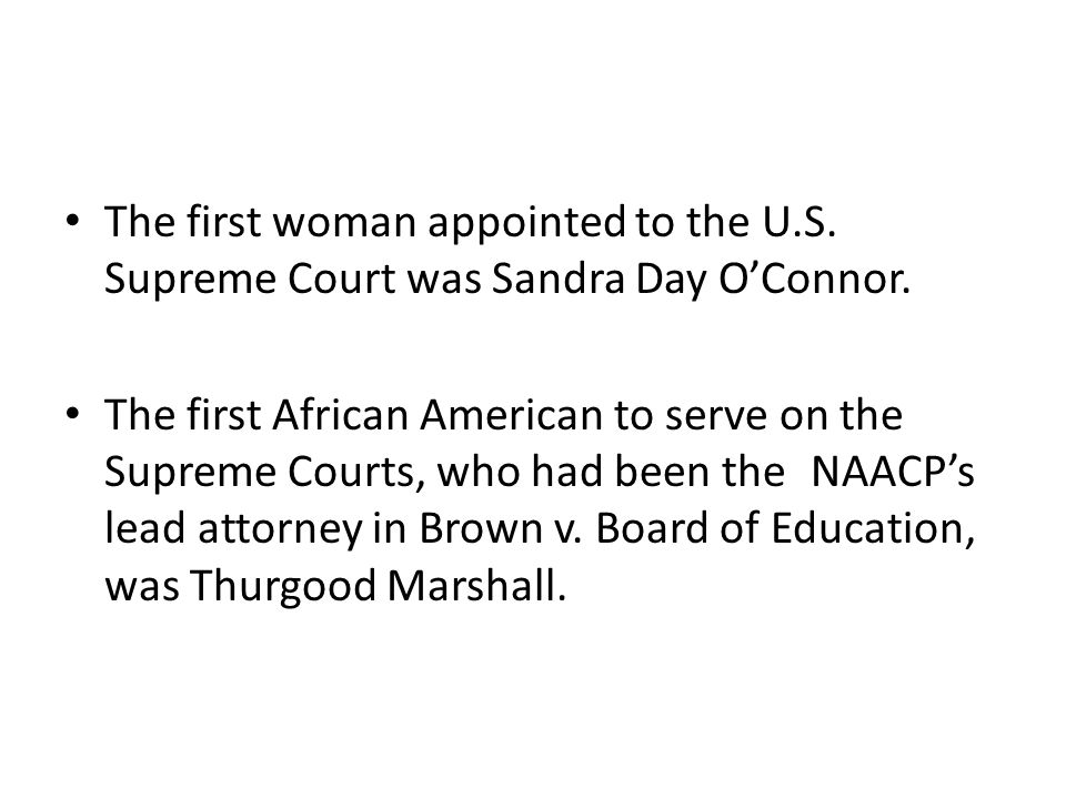 The first woman appointed to the U. S