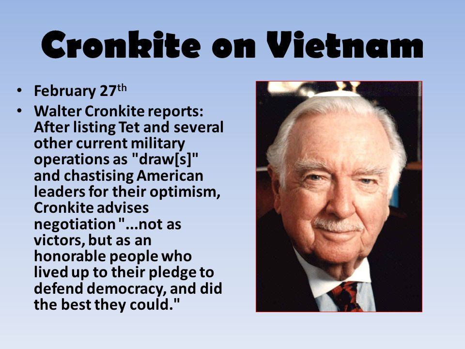 Cronkite on Vietnam February 27th