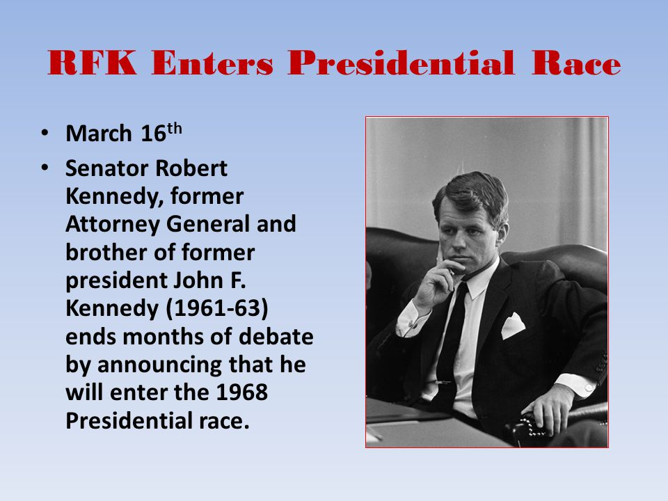 RFK Enters Presidential Race