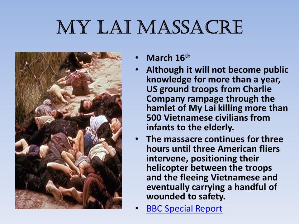 My Lai Massacre March 16th