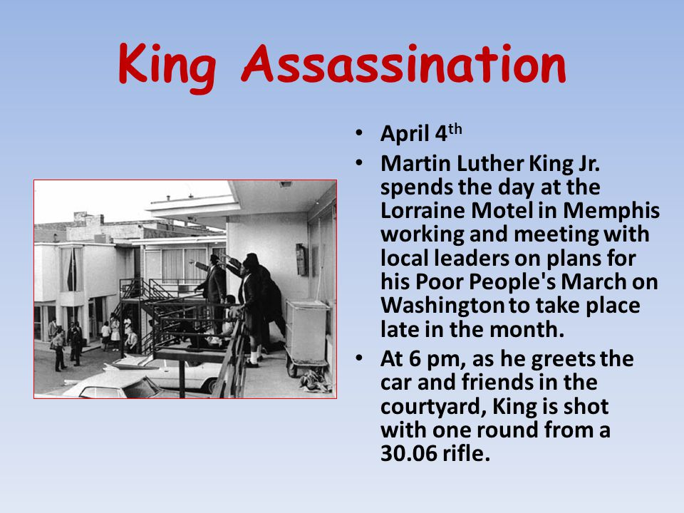 King Assassination April 4th