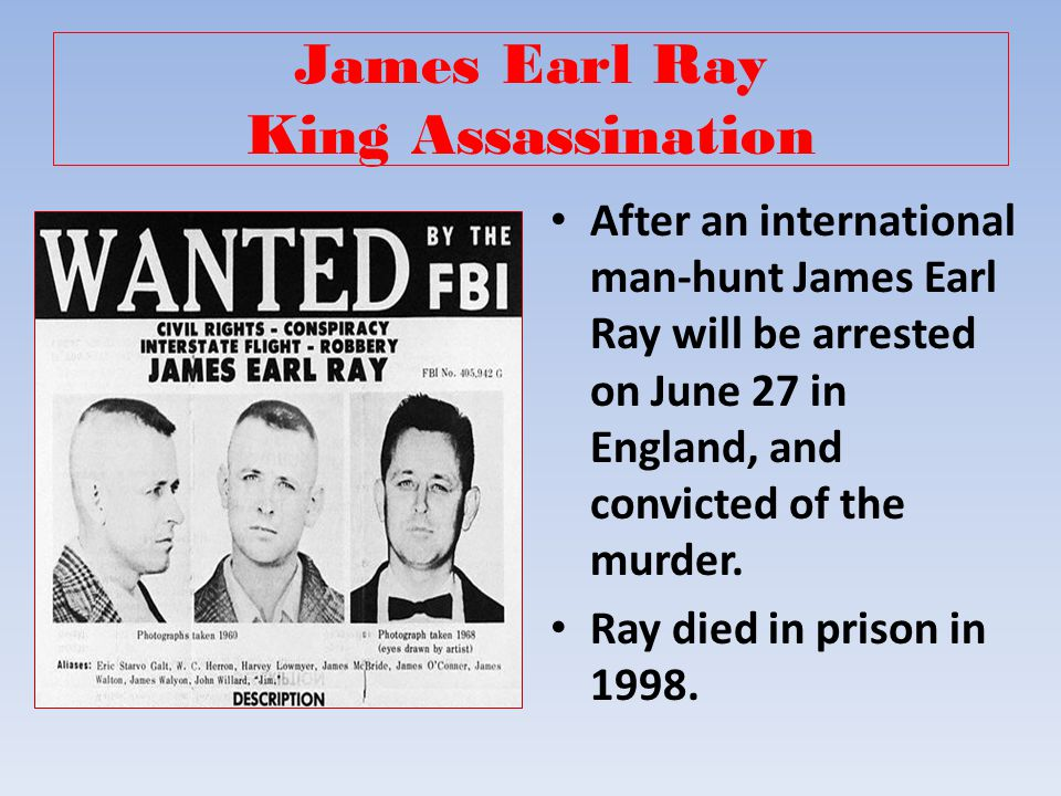 James Earl Ray King Assassination