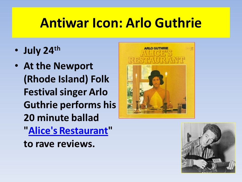 Antiwar Icon: Arlo Guthrie