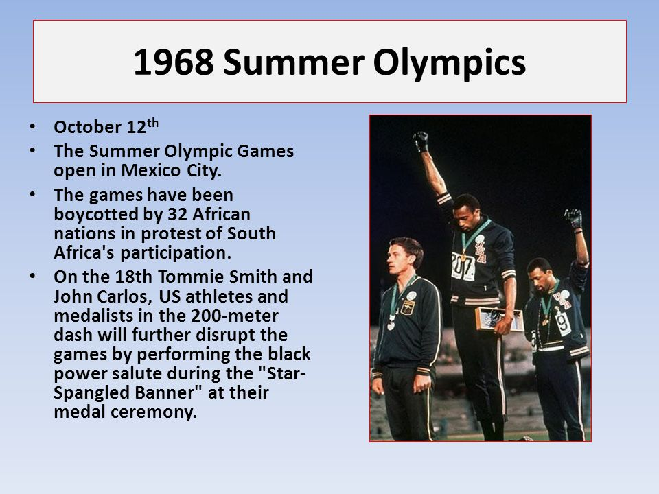 1968 Summer Olympics October 12th