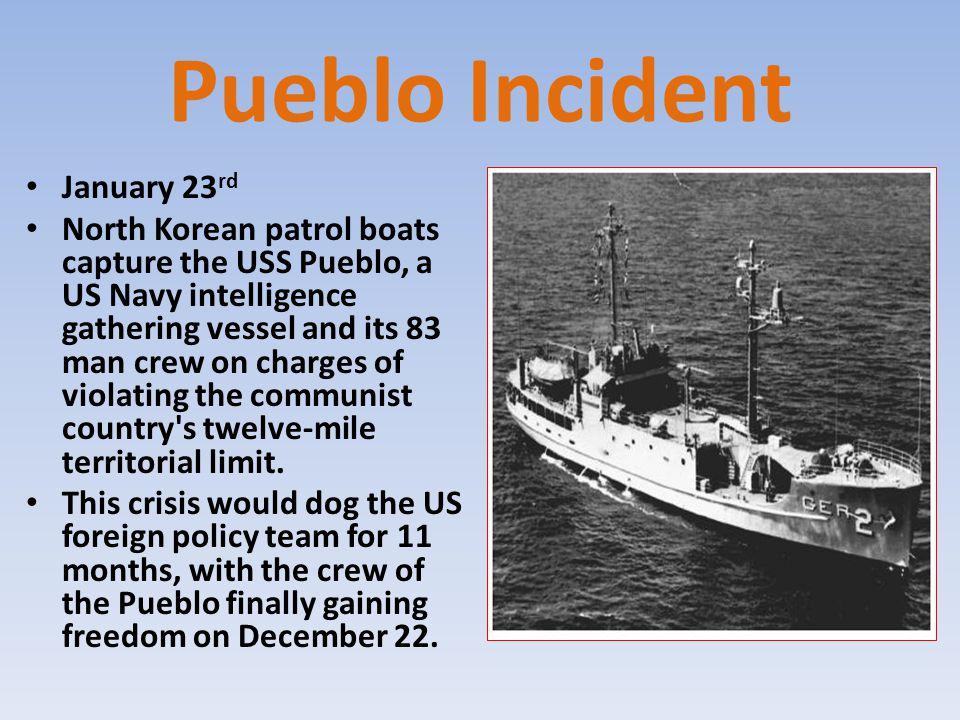 Pueblo Incident January 23rd