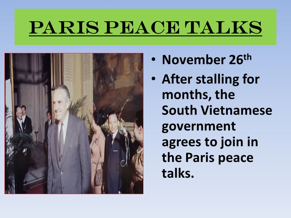 Paris Peace Talks November 26th