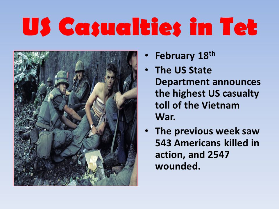 US Casualties in Tet February 18th