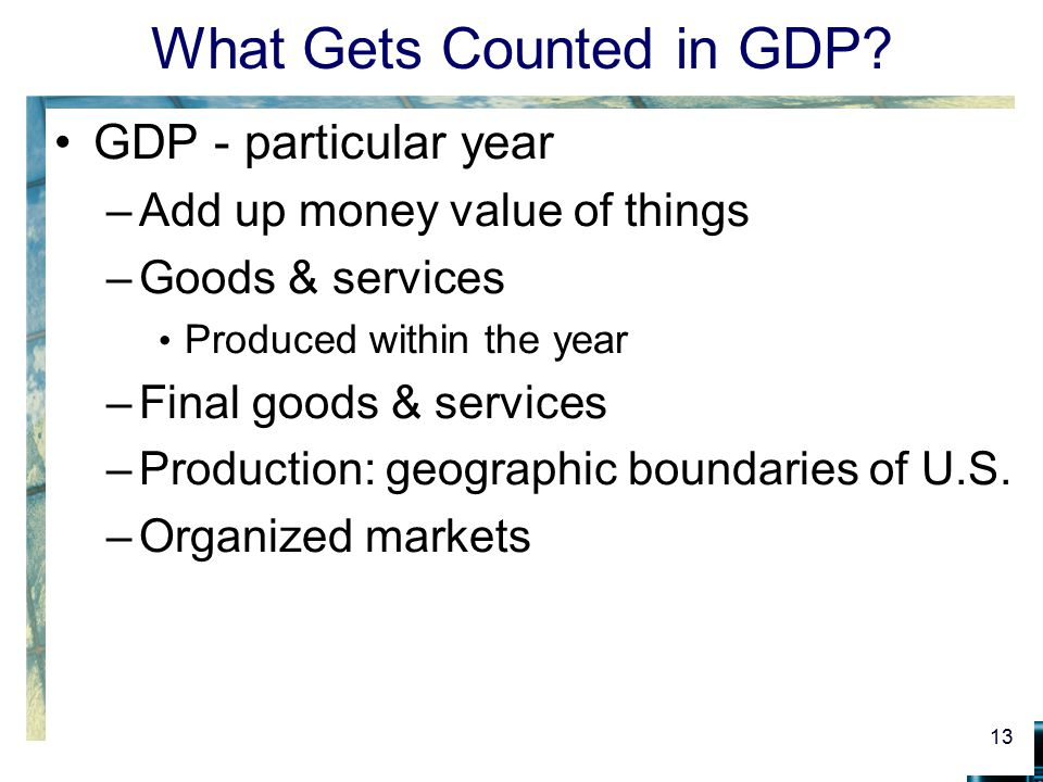What Gets Counted in GDP