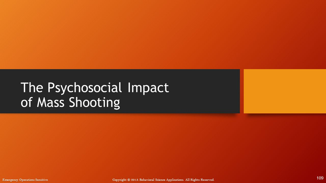 The Psychosocial Impact of Mass Shooting