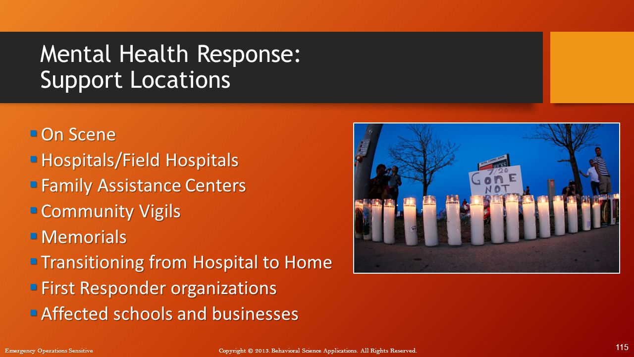 Mental Health Response: Support Locations