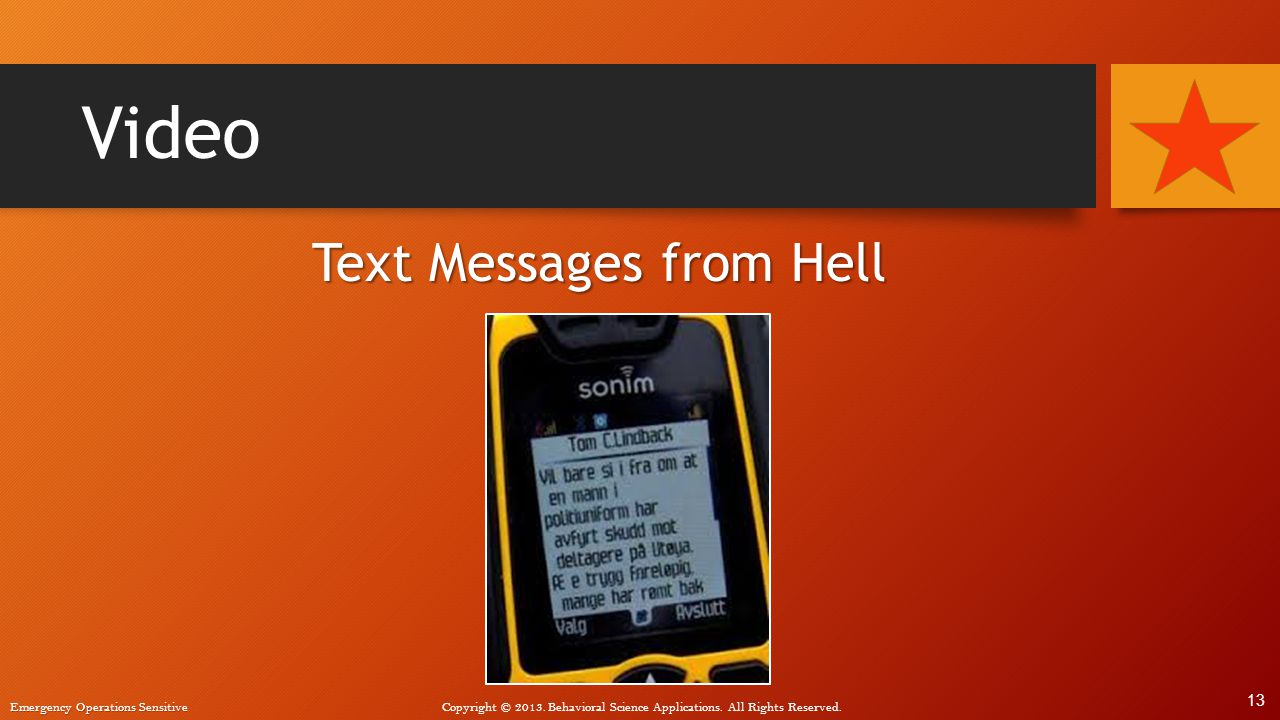 Text Messages from Hell
