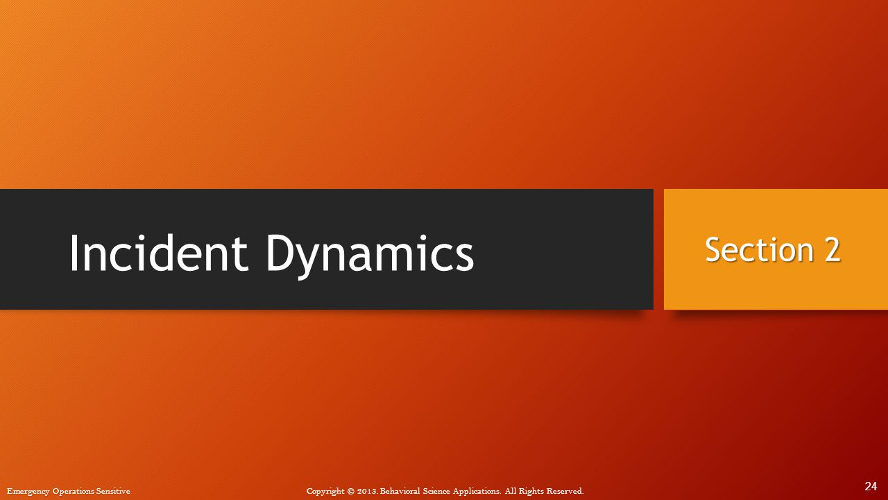 Incident Dynamics Section 2 24