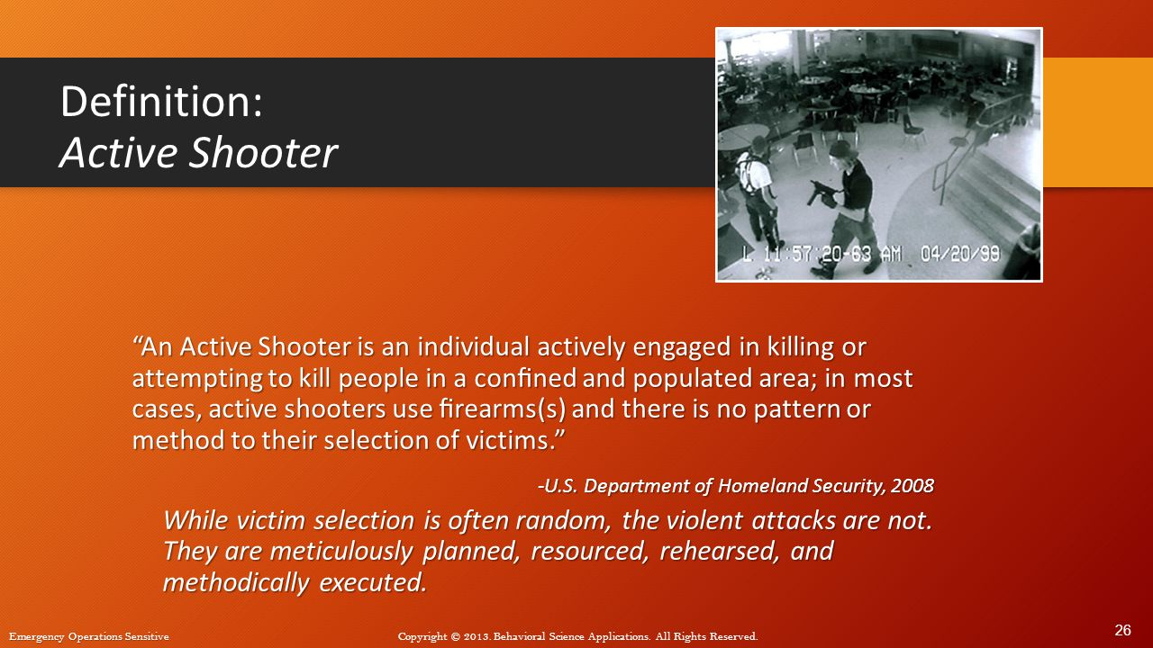 Definition: Active Shooter