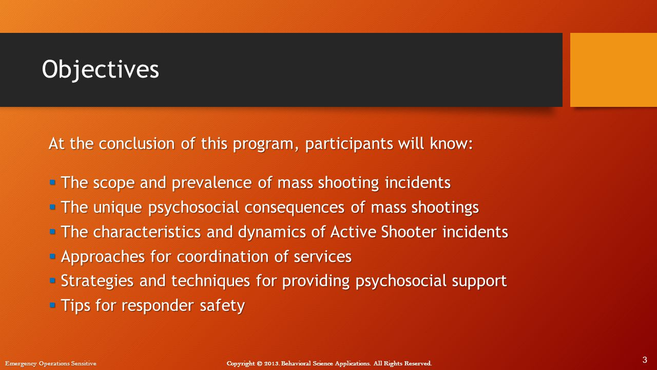 Objectives At the conclusion of this program, participants will know: