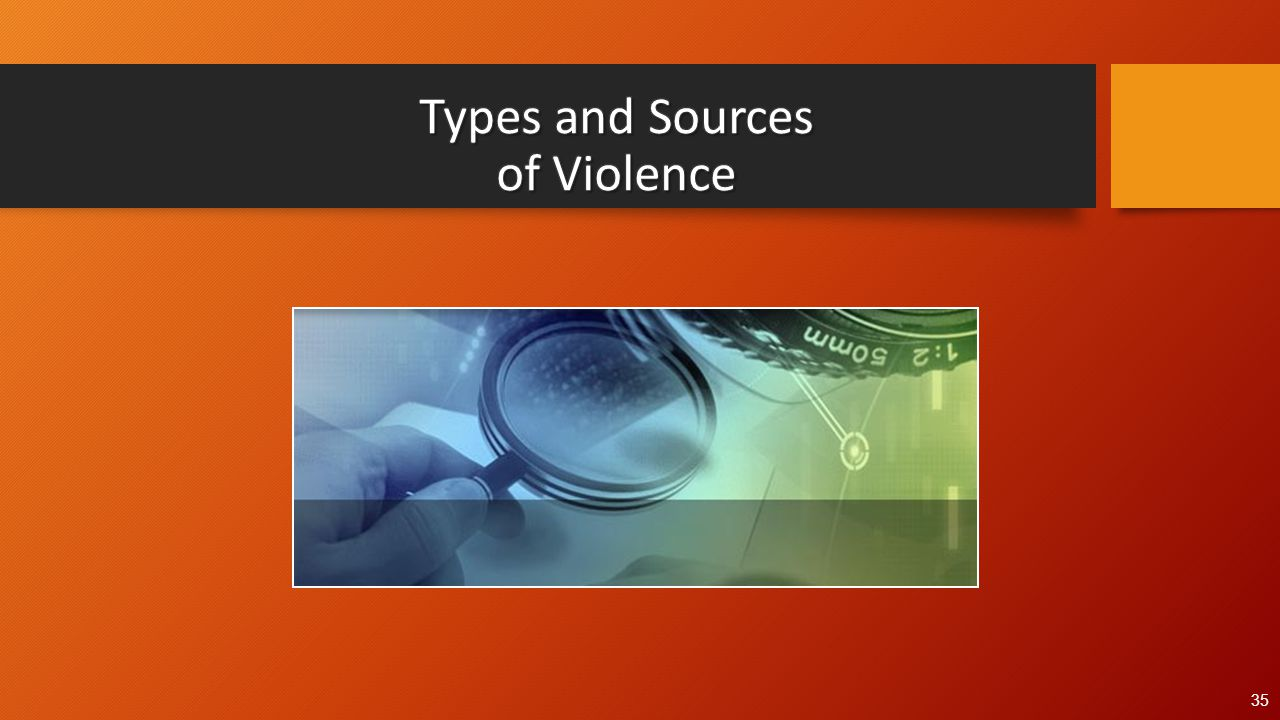 Types and Sources of Violence