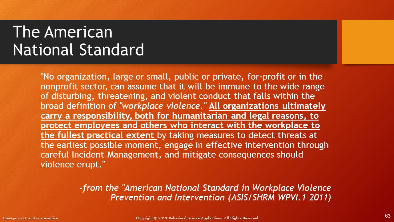 The American National Standard
