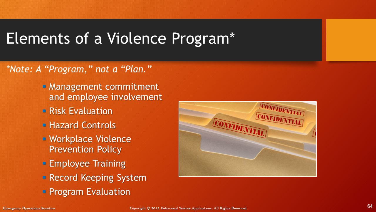 Violence in the Workplace: An Overview of Prevention Strategies