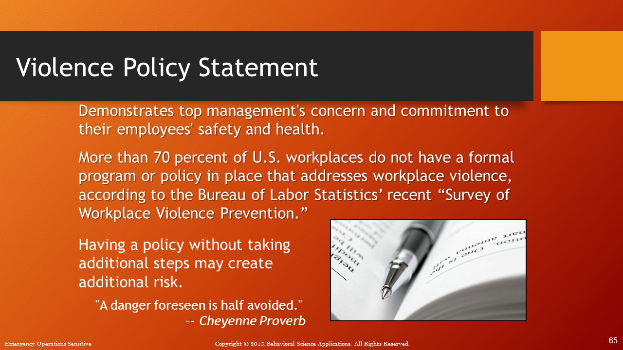 Violence Policy Statement
