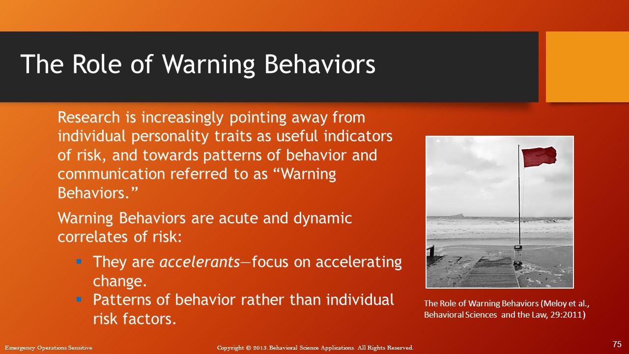 The Role of Warning Behaviors