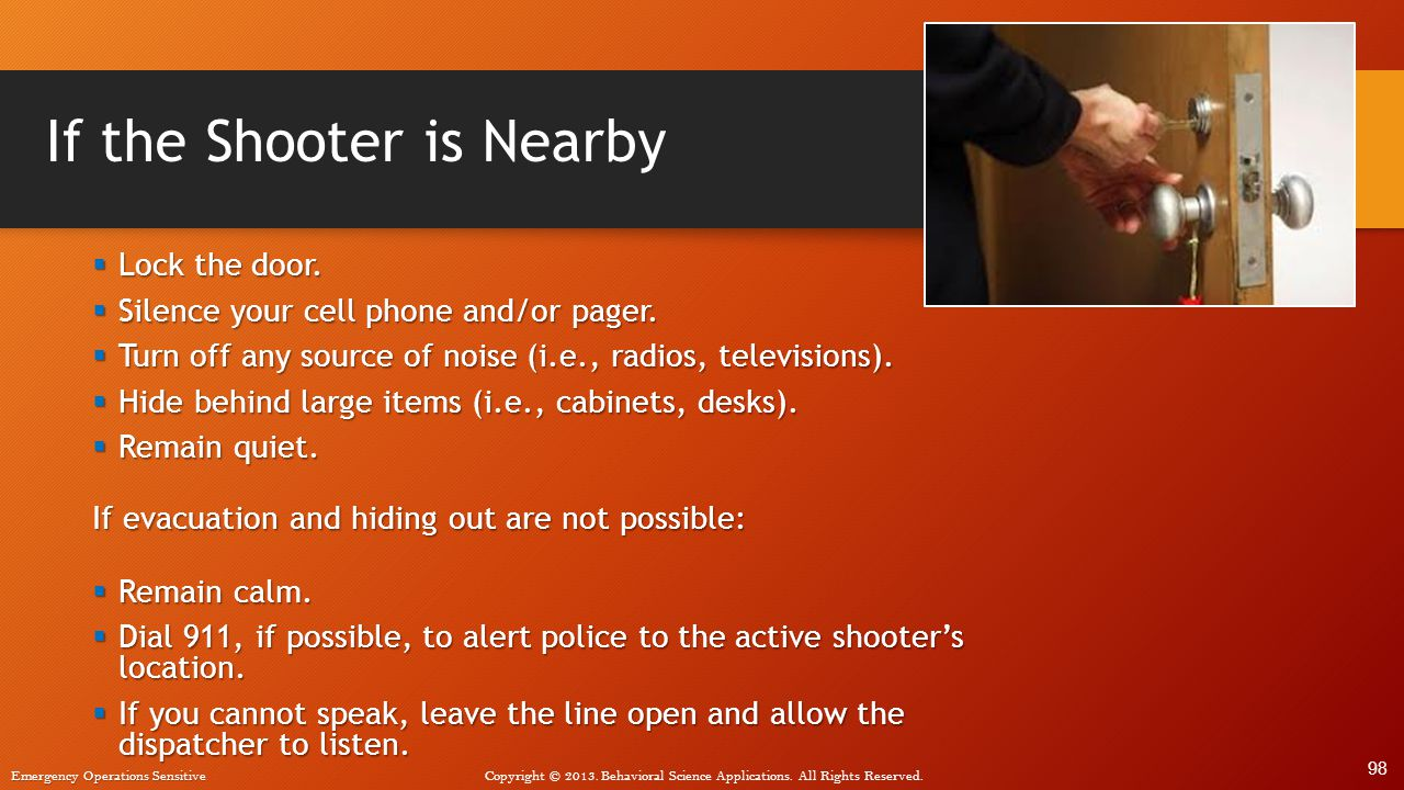 If the Shooter is Nearby