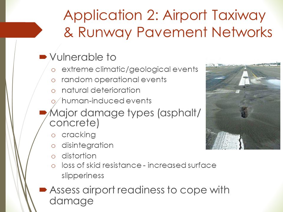 Application 2: Airport Taxiway & Runway Pavement Networks