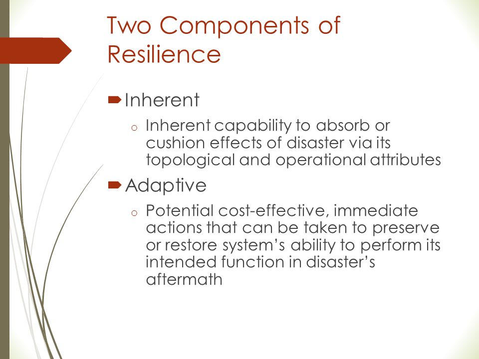 Two Components of Resilience